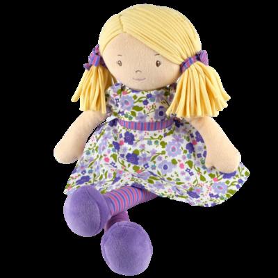 Tikiri Toys | Peggy - Blonde Hair with Lilac & Pink Dress