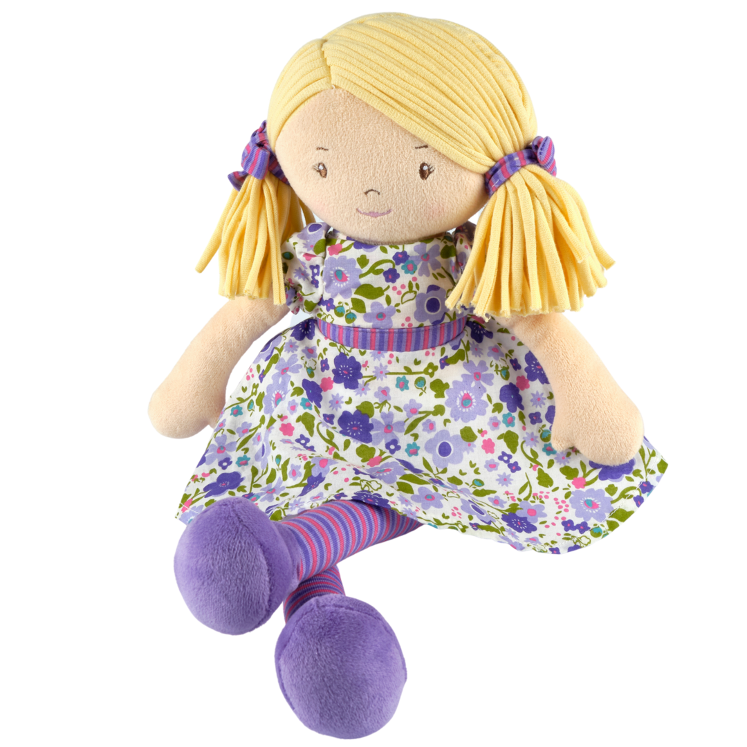 Tikiri Toys   Peggy - Blonde Hair with Lilac & Pink Dress