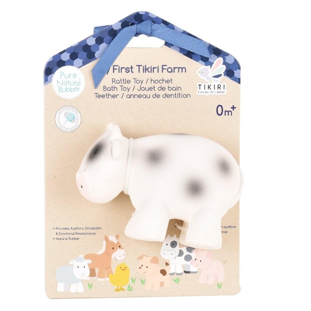 Tikiri Toys | Cow - Natural Rubber Rattle