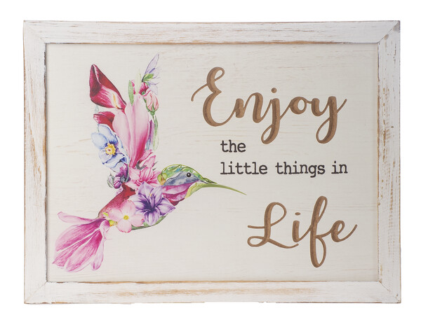 """""""Enjoy the little things in Life"""" Plaque"""