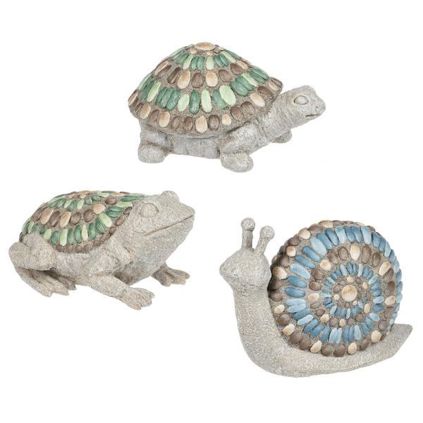 Resin Mosaic Stone Garden Figurines