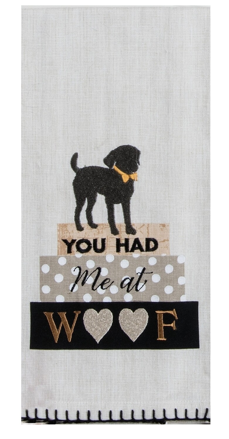 Kay Dee Designs Embroidered Tea Towel | Dog - You Had me at Woof