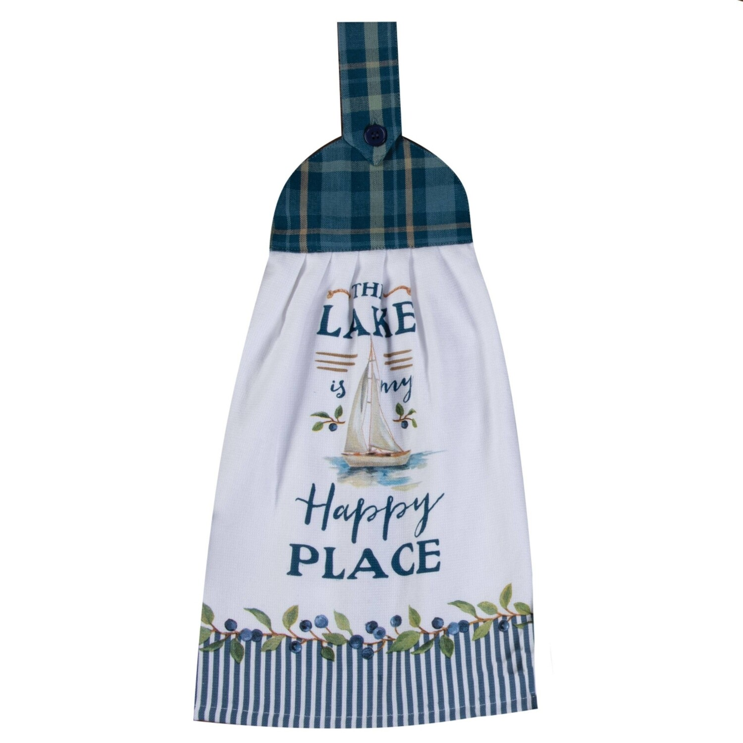 Kay Dee Designs Tie Towel | The Lake is my Happy Place