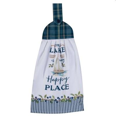 Kay Dee Designs Tie Towel | The Lake is my Happy Place