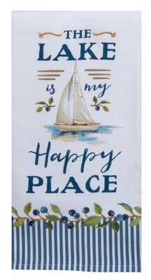 Kay Dee Designs Duel Purpose Terry Towel | The Lake is my Happy Place