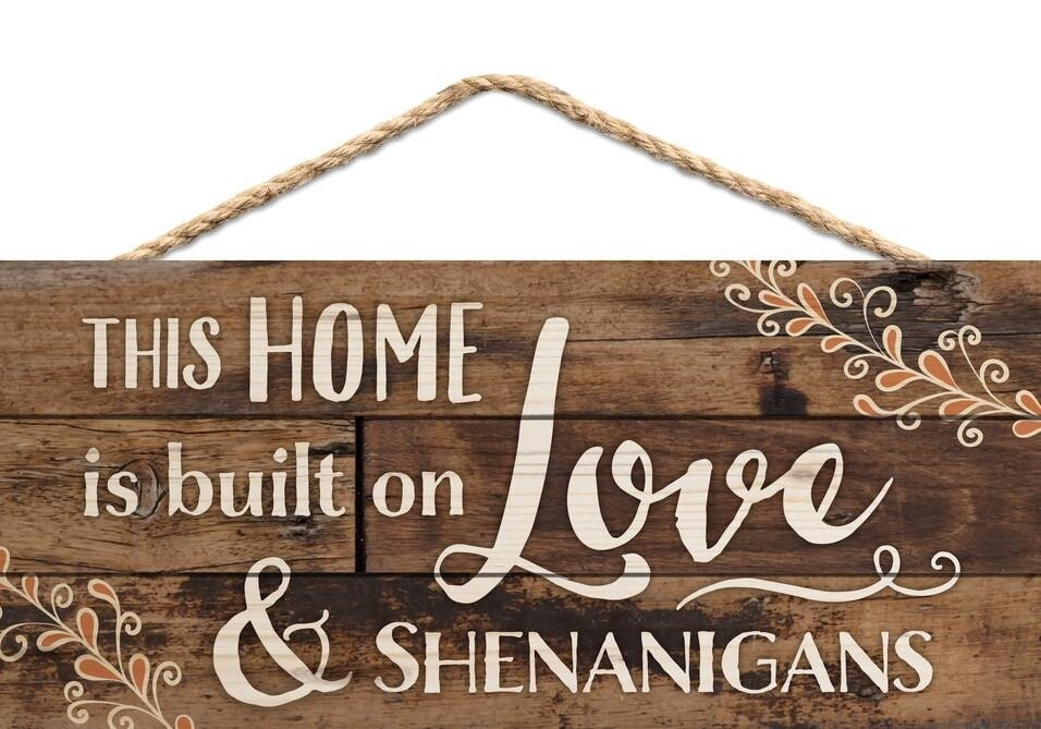 P.G. Dunn Small String Sign - Love & Shenanigans