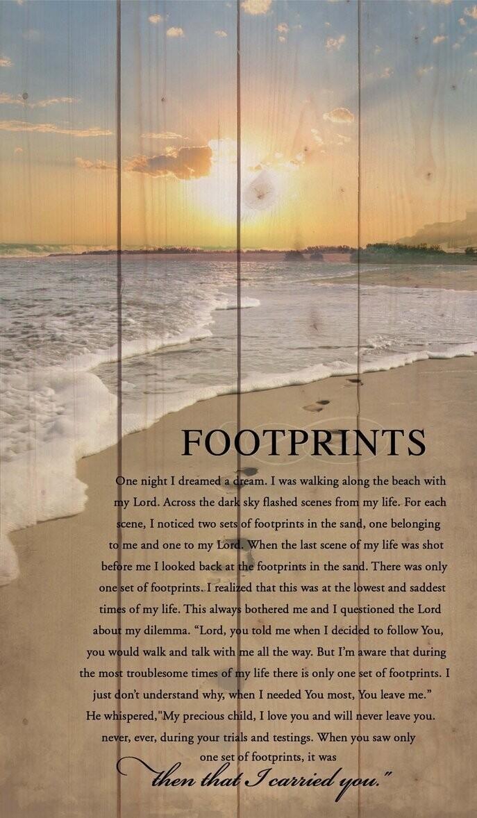 P.G. Dunn Pallet Sign - Footprints