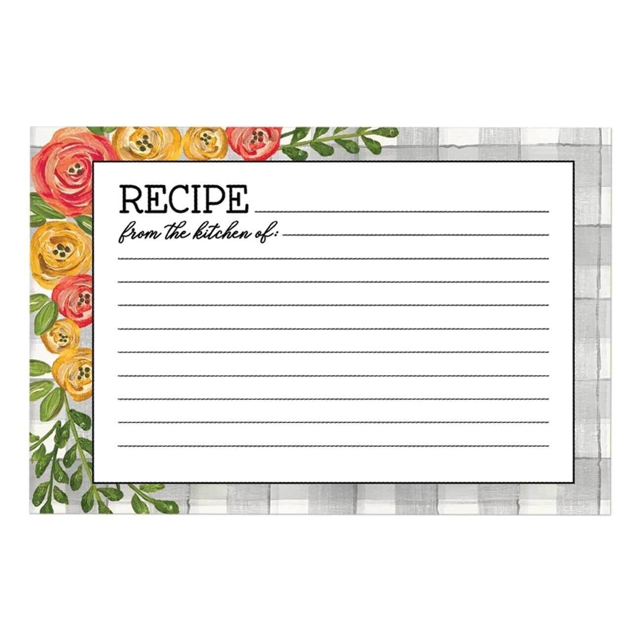 Brownlow Recipe Cards - Floral