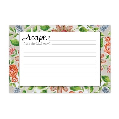 Brownlow Recipe Cards - Lattice Floral