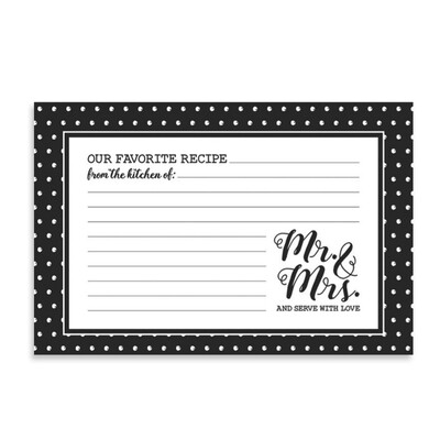 Brownlow Recipe Cards - Mr & Mrs