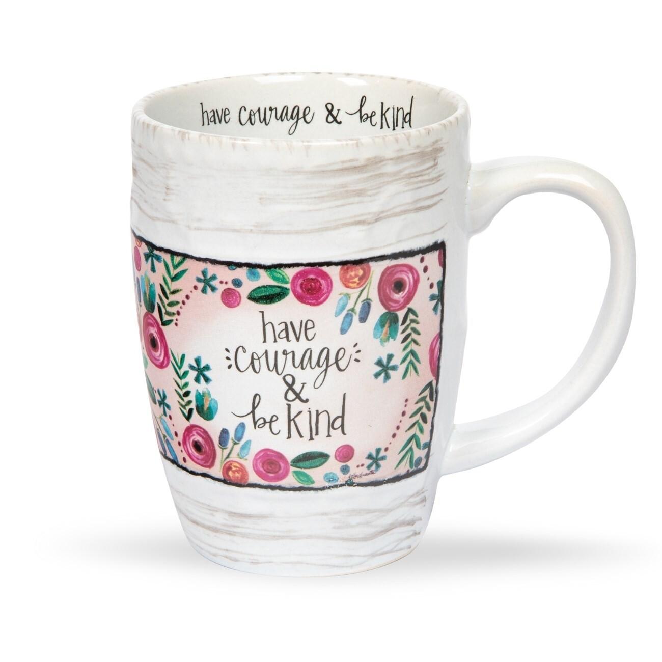 Brownlow Floral Mug - Have Courage