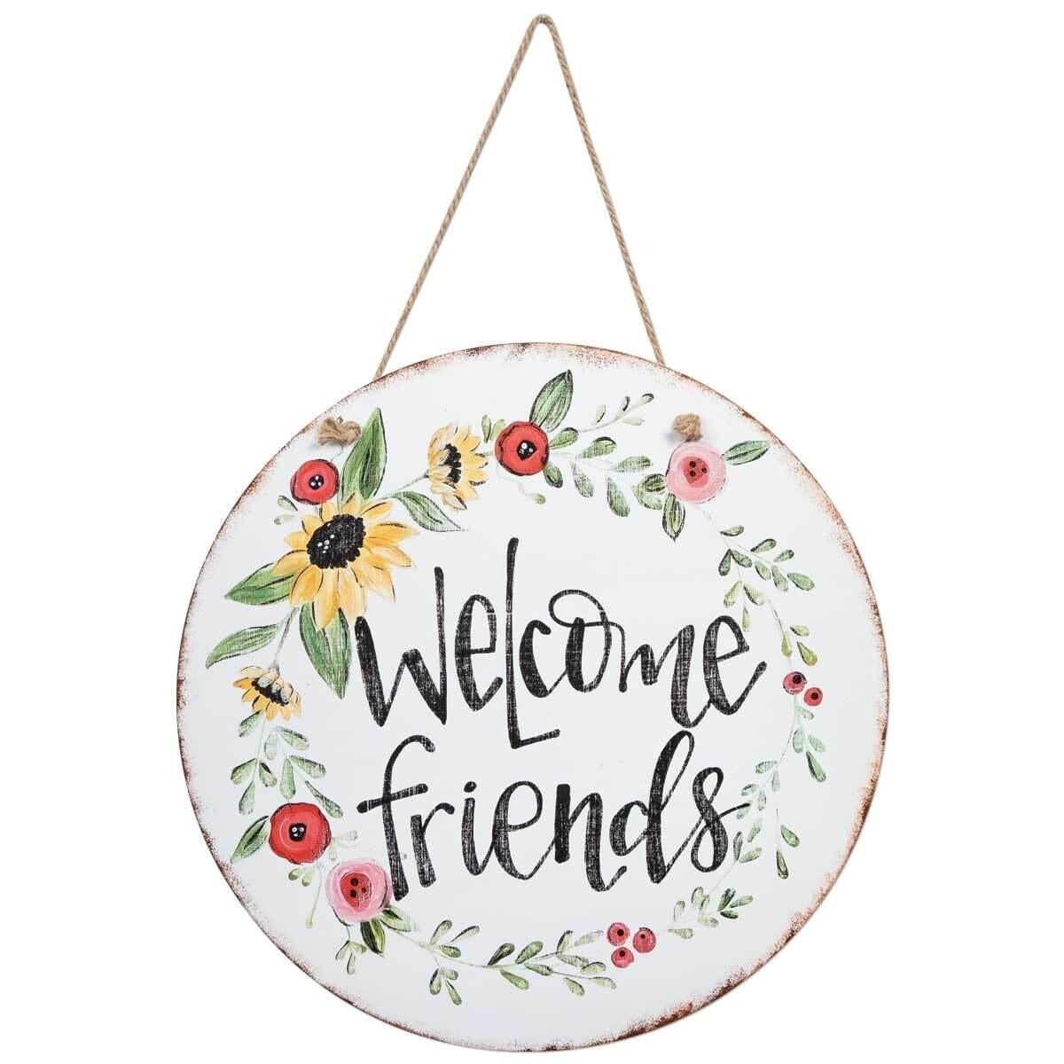 Door & Wall Hanging Sign - Welcome Friends