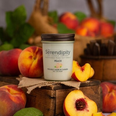 Serendipity 8 oz Soy Candle Jar | Peach