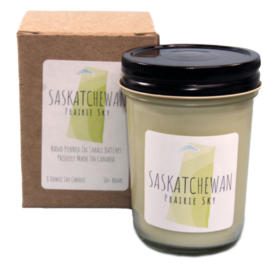 Serendipity 8 oz Soy Candle Jar | Saskatchewan Prairie Sky