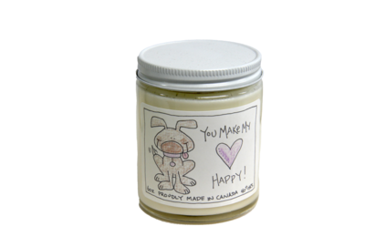 Serendipity 6 oz Soy Candle Jar | You Make My Heart Happy - Dog