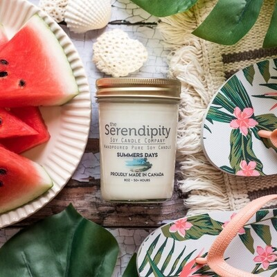 Serendipity 8 oz Soy Candle Jar | Summer Days