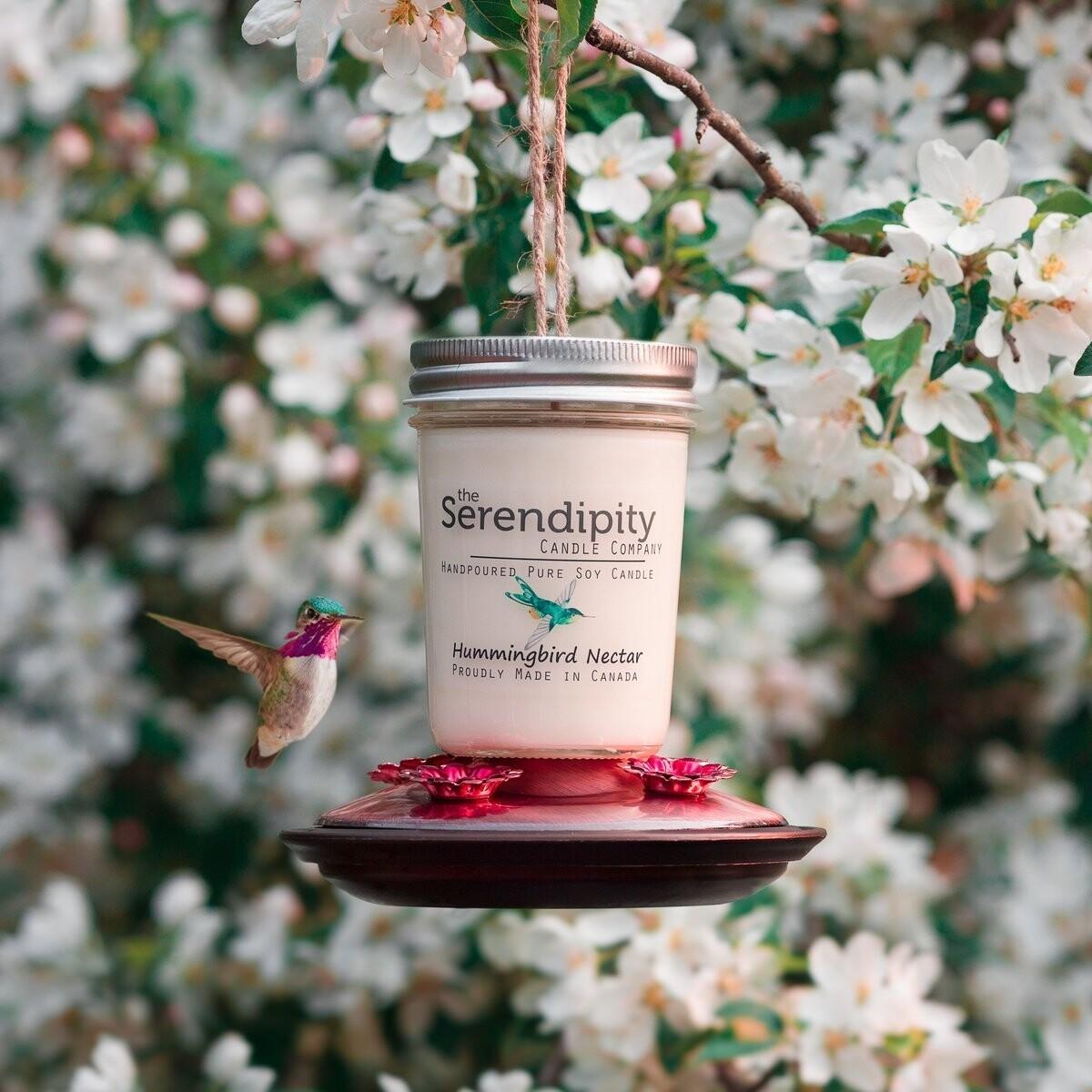 Serendipity 8 oz Soy Candle Jar | Hummingbird Nectar