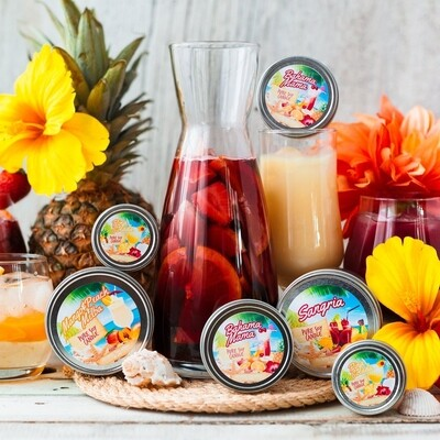 Serendipity 8 oz Summer Drink Tin Candles | Multiple Scents