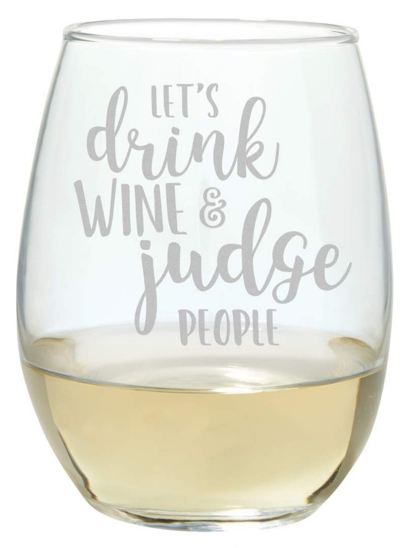 Carson Stemless Wine Glass - Drink & Judge