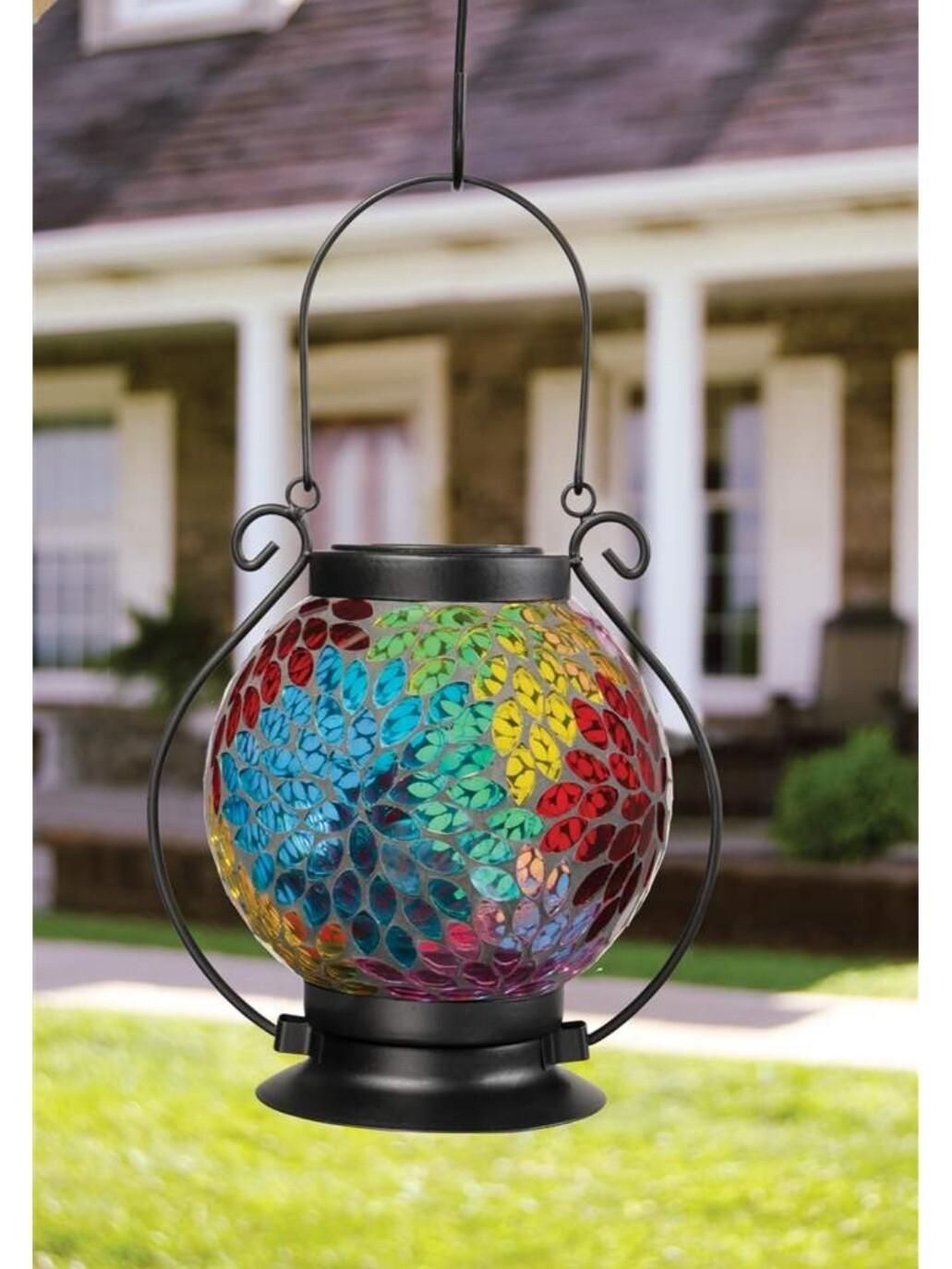 Carson Mosaic Lantern - Prismatic Petal