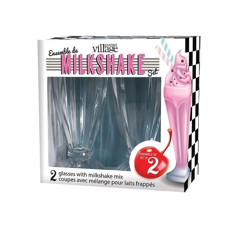Gourmet du Village - Milkshake Glass Gift Set