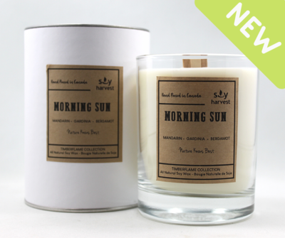 Soy Harvest Timberflame Candle - Morning Sun