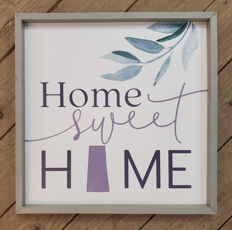 """""""Home Sweet Home"""" Saskatchewan Large Framed Wood Sign"""