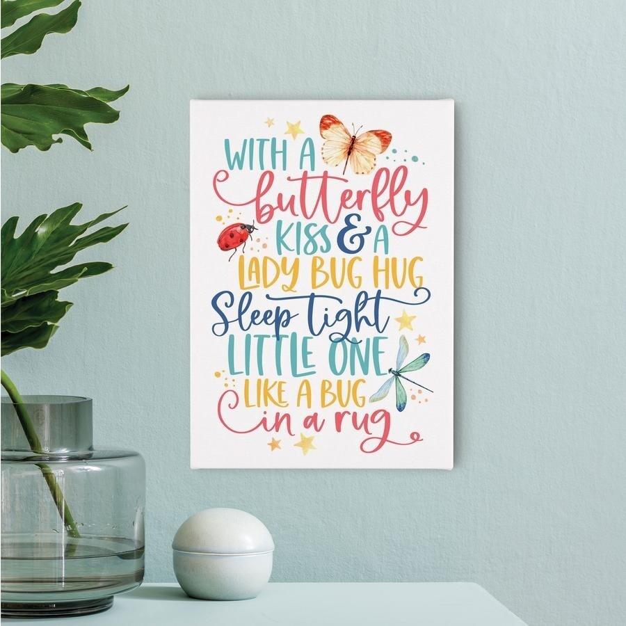 Small Canvas - Butterfly Kiss & Lady Bug Hug