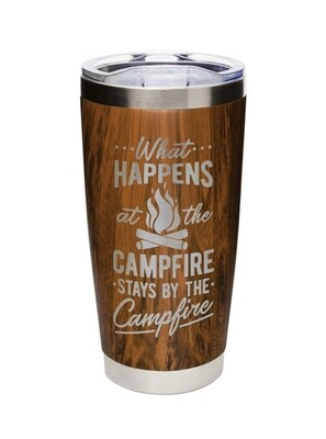 Carson 20oz Stainless Steel Tumbler - What Happens at the Campfire Stays at the Campfire
