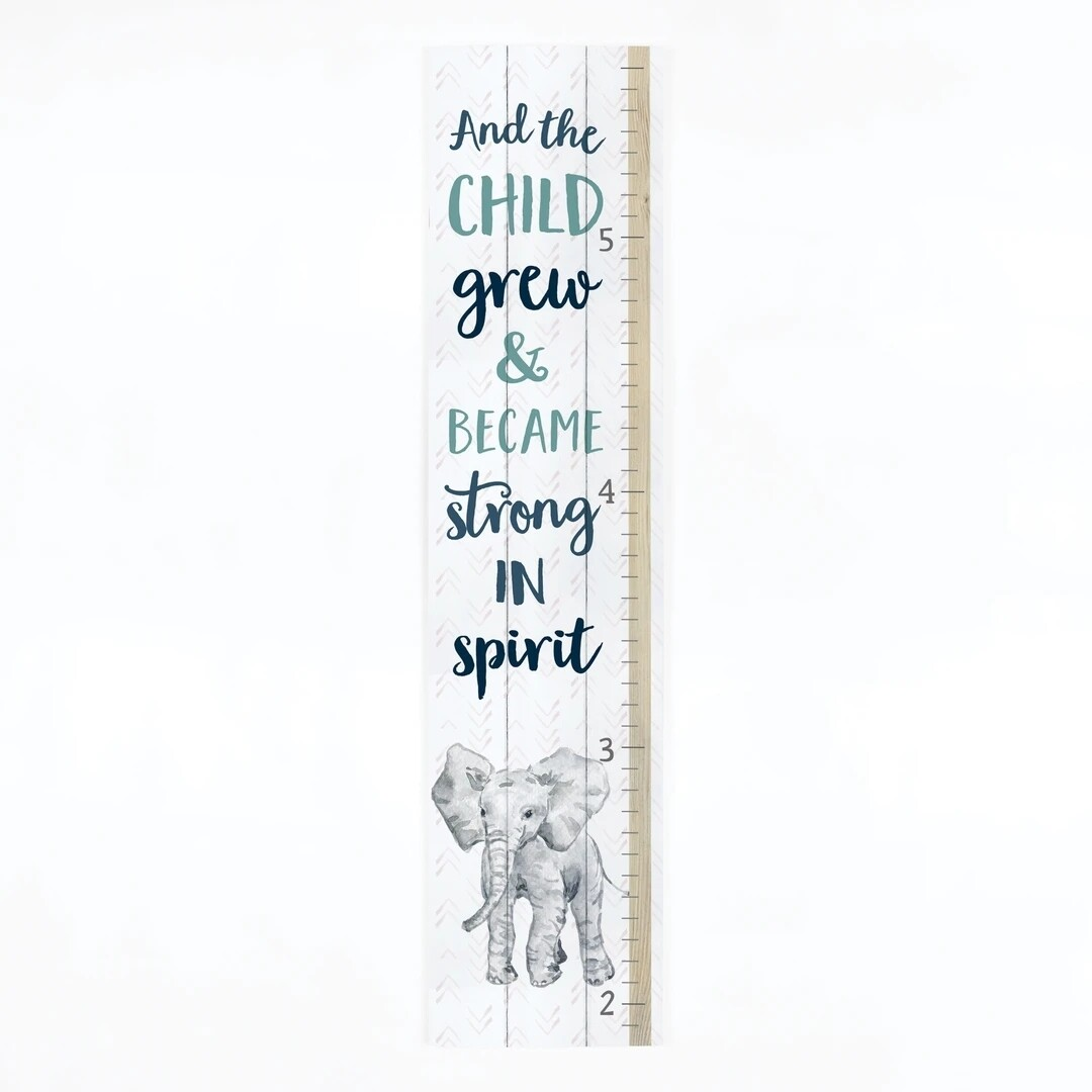 P.G. Dunn Pallet Growth Chart - The Child Grew & Became Strong in Spirit