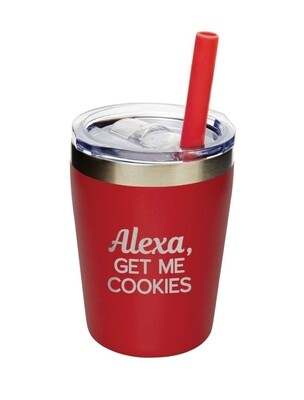 Carson 9oz Stainless Steel Children's Tumbler - Alexa, Get Me Cookies