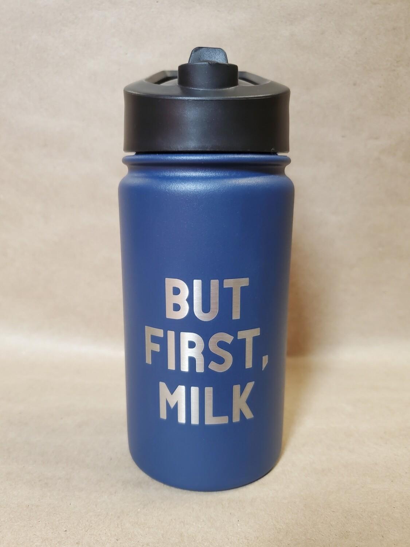 Carson 14oz Stainless Steel Children's Sport Bottle - But First, Milk