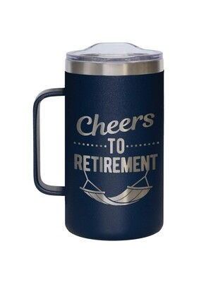 Carson 24oz Stainless Steel Coffee Mug - Cheers to Retirement