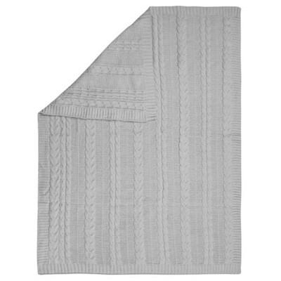 Stephen Joseph Chenille Blanket - Grey
