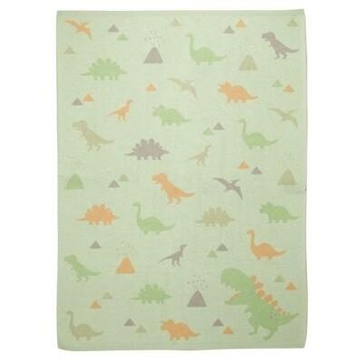 Stephen Joseph Knit Baby Blanket - Dino
