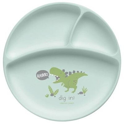 Stephen Joseph Suction Cup Silicone Plate - Dino