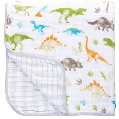 Stephen Joseph Muslin Stroller Blanket - Dino