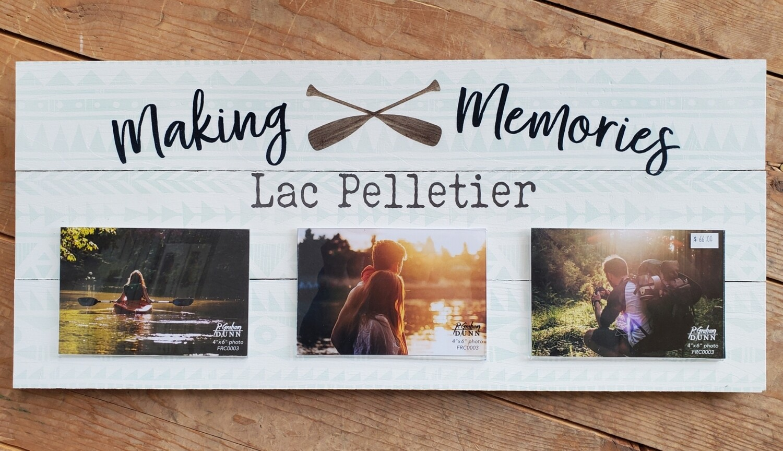 """Making Memories - Lac Pelletier"" Pallet Board Photo Frame"