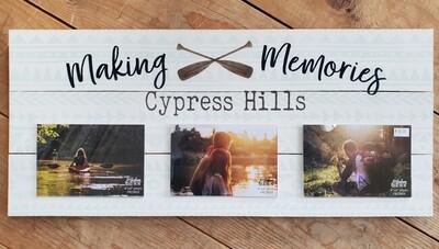 """Making Memories - Cypress Hills"" Pallet Board Photo Frame"