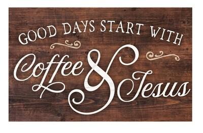P.G. Dunn Pallet Sign - Coffee & Jesus