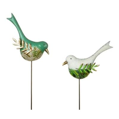 Metal Bird Garden Stake