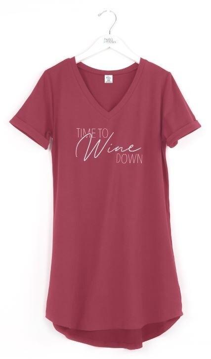 Hello Mello Sleep Shirt | Time To Wine Down