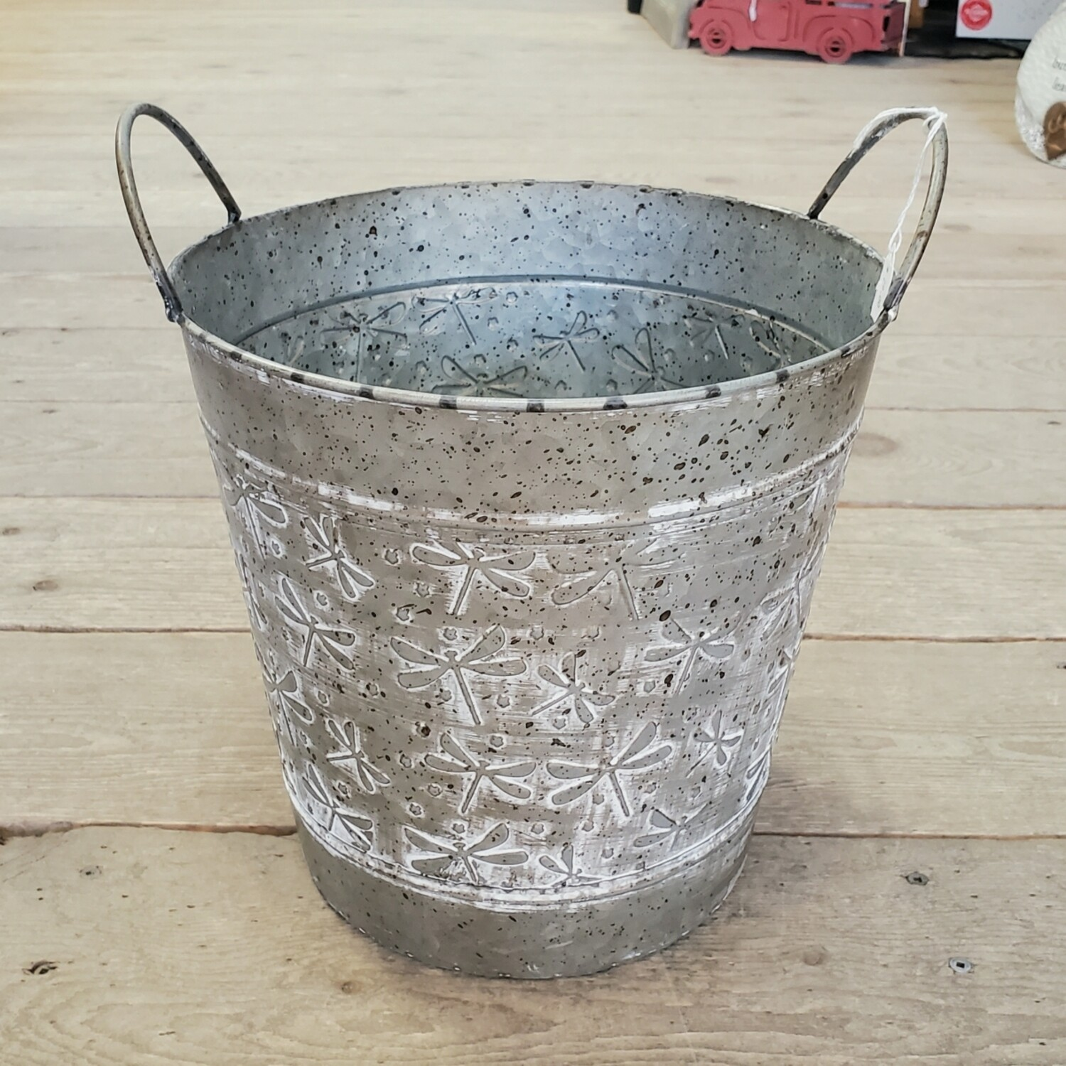 Dragonfly Galvanized Pail | Large