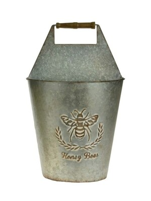 Bee Galvanized Metal Wall Planter