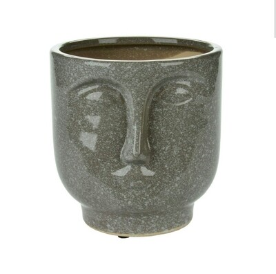 Stone Look Face Planter - Tall