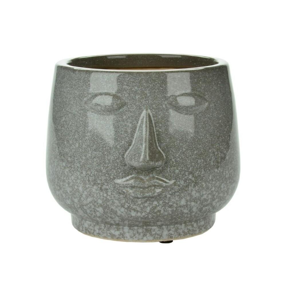 Stone Look Face Planter - Short