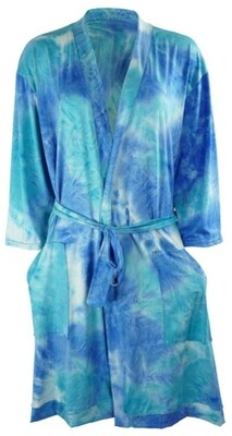 Hello Mello Dyes The Limit Robe - Aqua