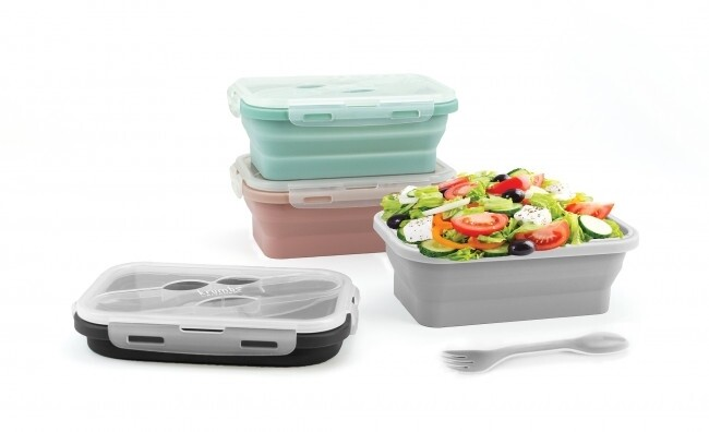 Krumb's Kitchen Collapsible Silicone Lunch Container