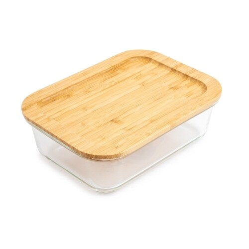 Core Kitchen | Glass Food Storage with Bamboo Lid (50oz)
