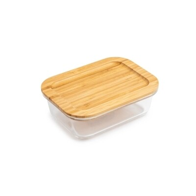 Core Kitchen | Glass Food Storage with Bamboo Lid (21oz)